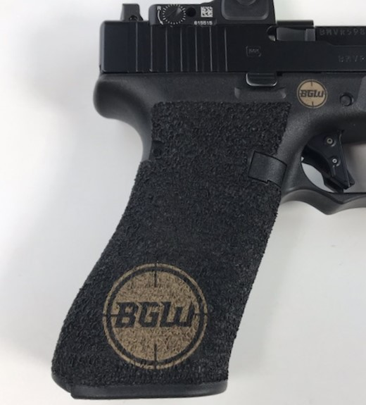 Polymer Handgun graphic engraving
