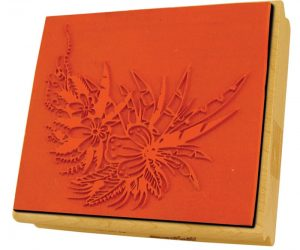elastomers silicone rubber laser engraving decorative stamp with a 10.6 micron co2 laser