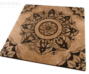 natural inorganic materials glazed tile laser marking design with a 10.6 micron co2 laser