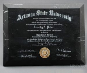 natural inorganic materials marble laser engraving diploma with a 10.6 micron co2 laser