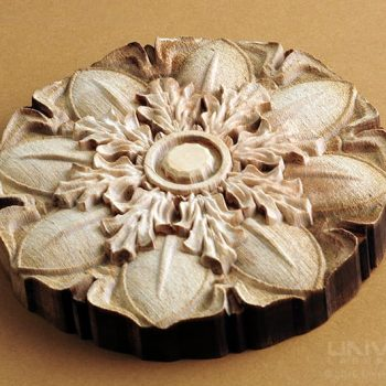 natural organic materials wood combined processes 3d flower with a 10.6 micron co2 laser