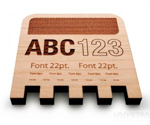 natural organic materials wood sample laser cutting marking and engraving with a 10.6 micron co2 laser